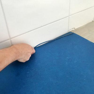Bodenbelag Linoleum Verlegung Zuschnitt