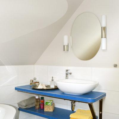 Linoleum auf Badkonsole verlegen