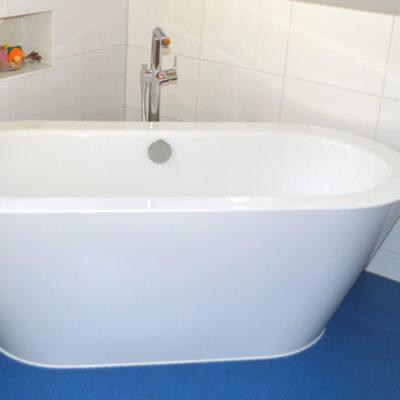 Linoleum Verlegung im Bad