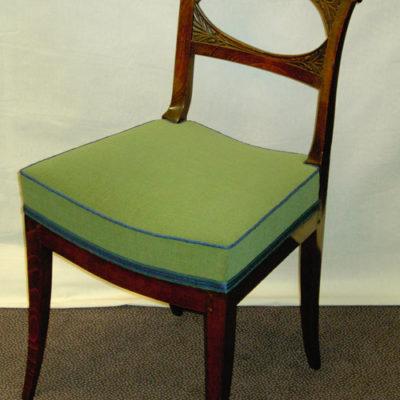 Polsterung antiker Stuhl Arbeitsprobe