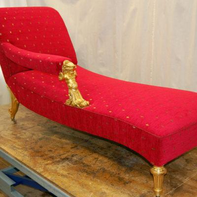Polsterung antikes Sofa Arbeitsprobe