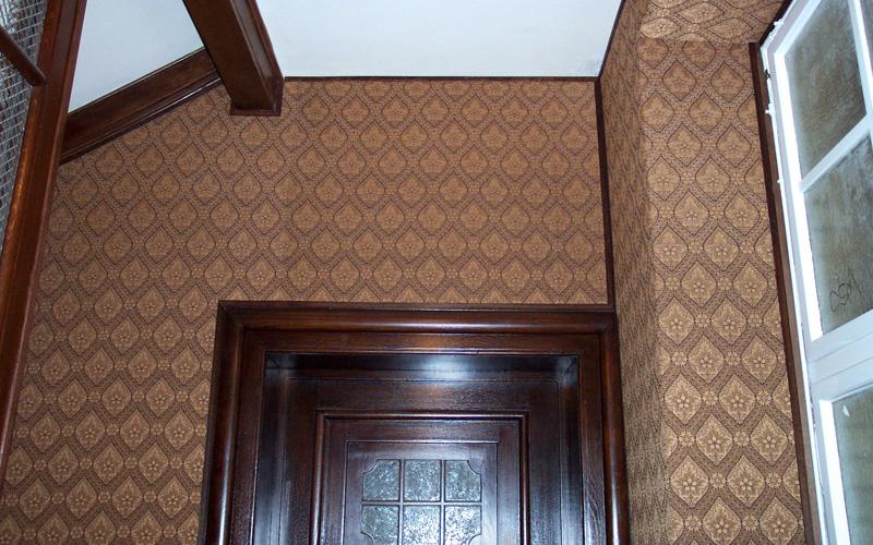Restaurierung textile Wandbespannung