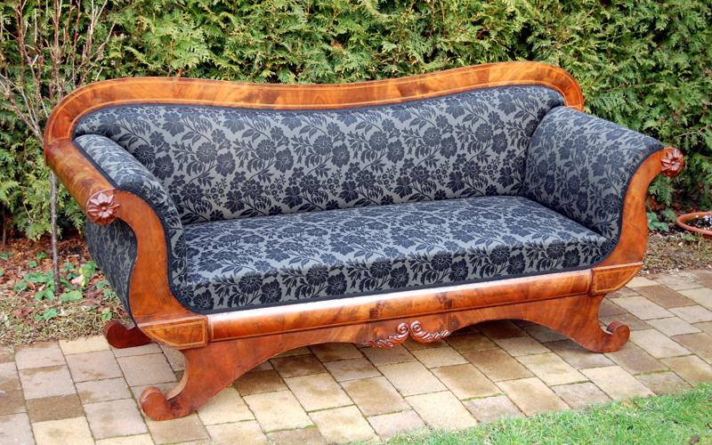 Polster Restaurierung Biedermeier Sofa Schritt 11