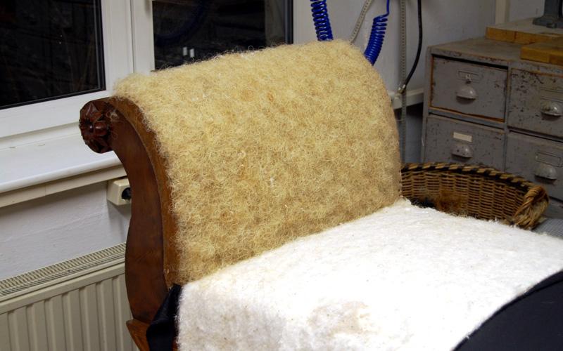 Polster Restaurierung Biedermeier Sofa Schritt 9