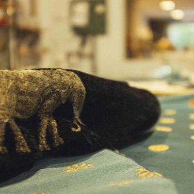 Polster Bezugsstoff Muster Elefant