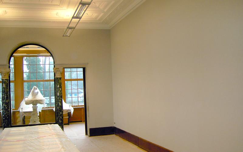 Wandbespannung aus Stoff