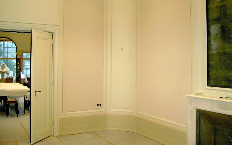 Wandbespannung aus Stoff Haus der Wannseekonferenz